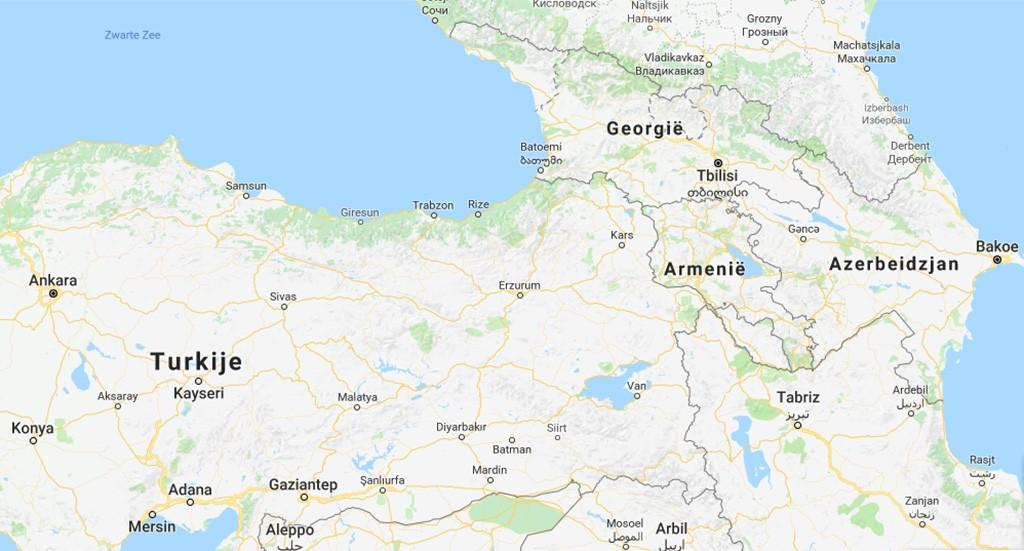 kaart Georgië