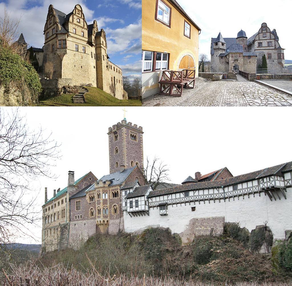 kastelen in Thüringer Wald