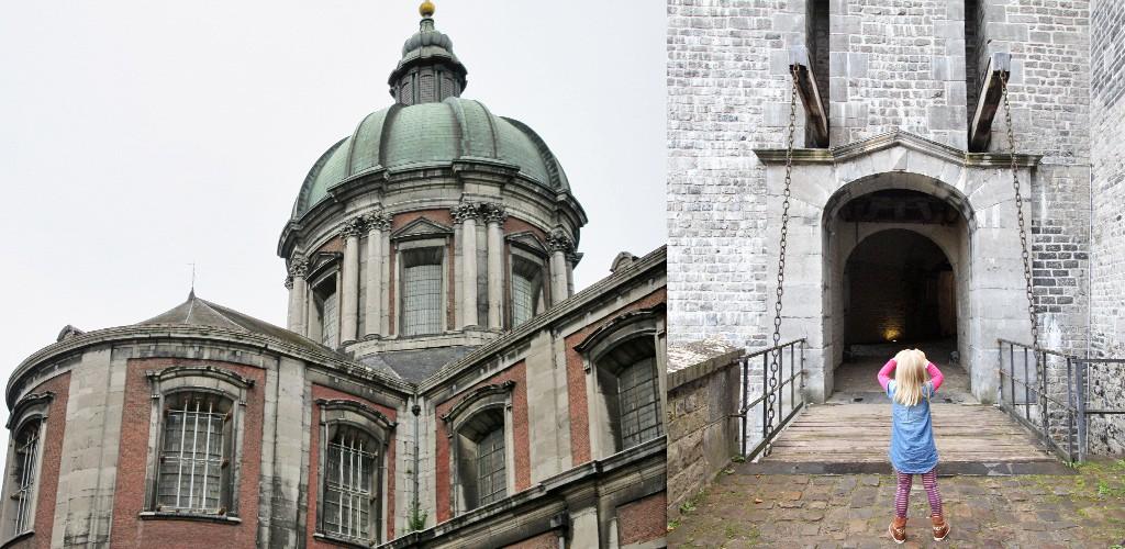 kerken en een oude poort citadel Namen