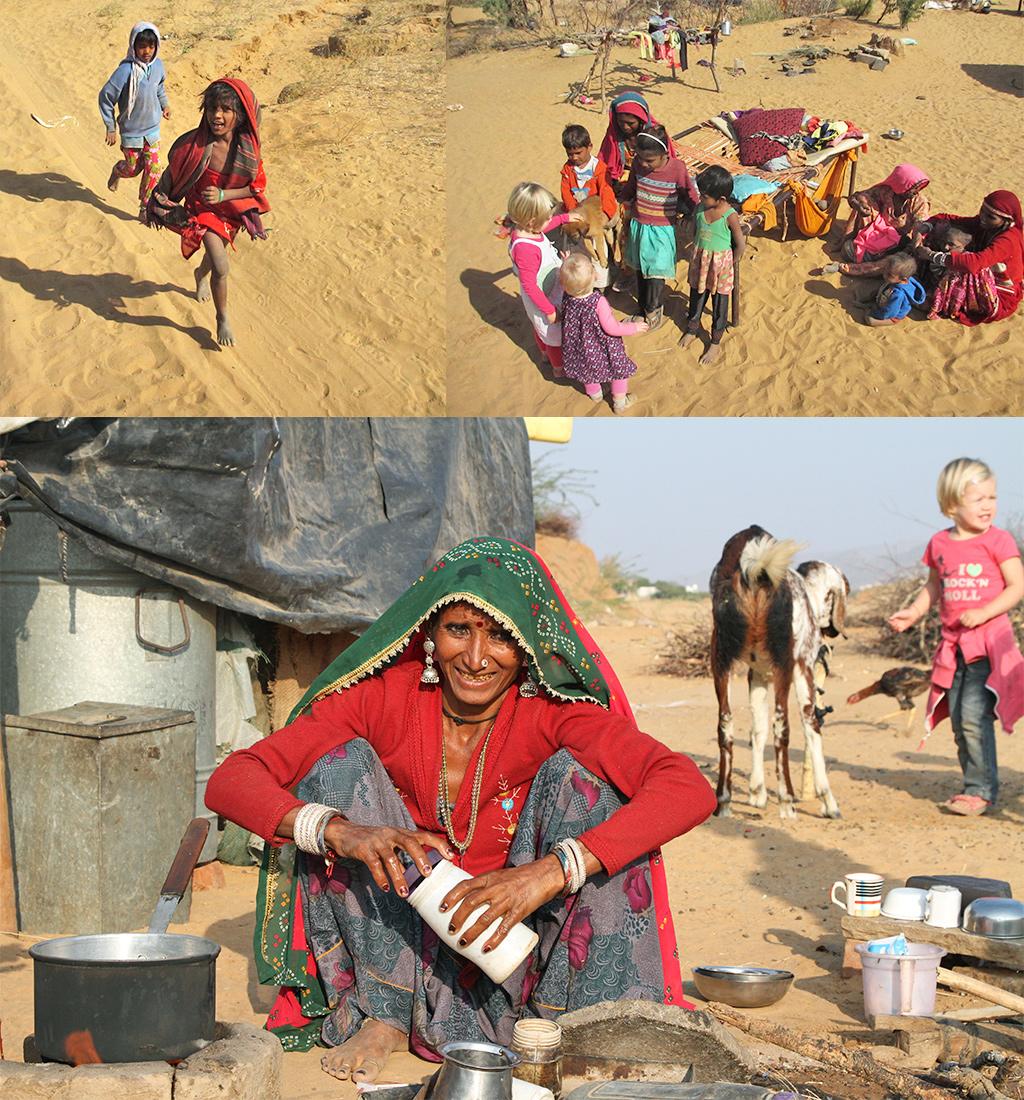kinderen woestijn Rajasthan