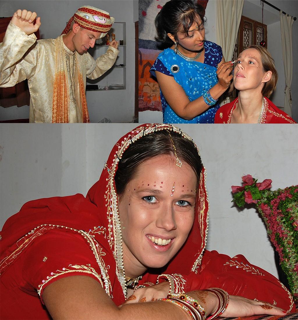 klaar maken voor trouwen in India
