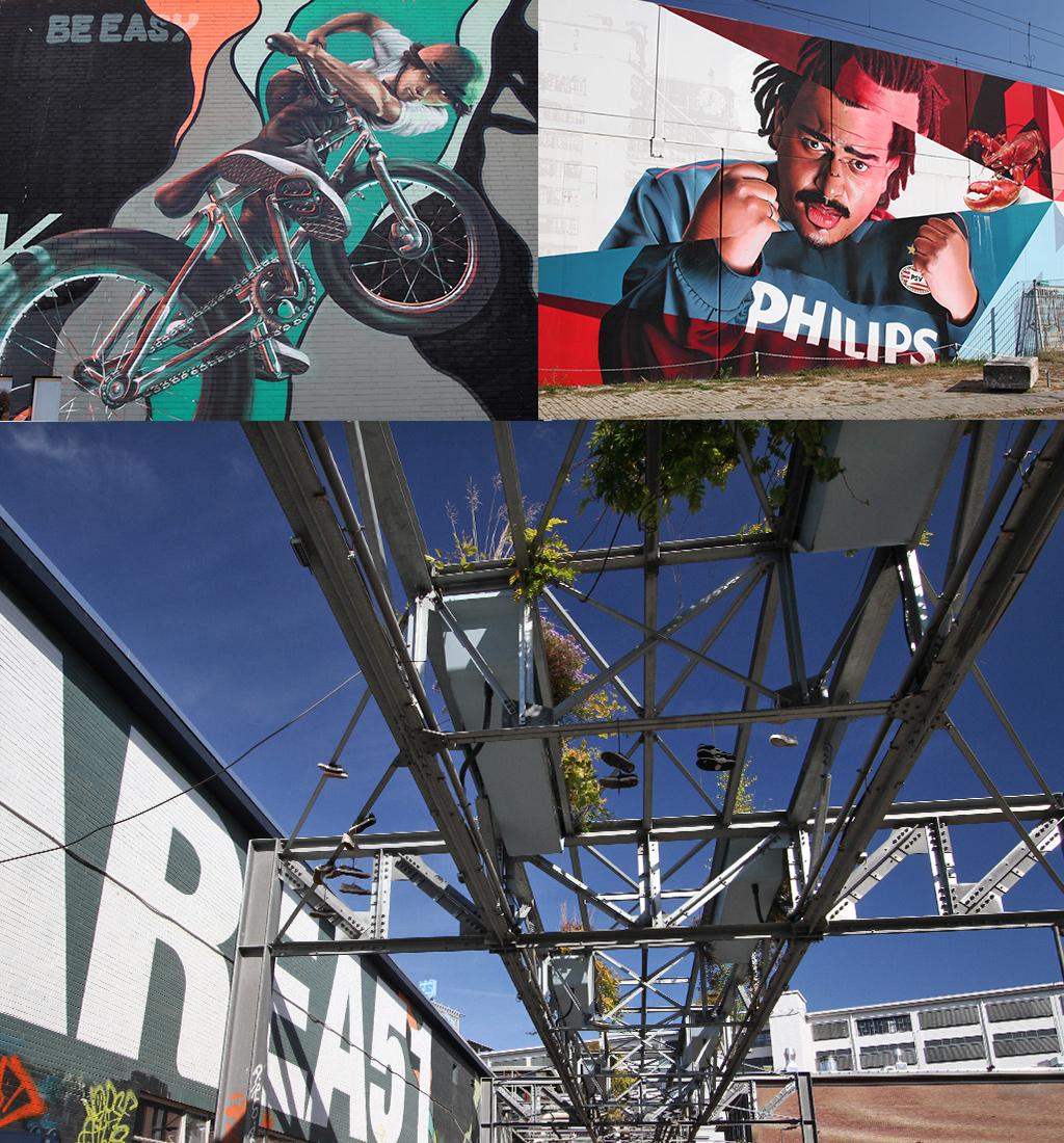 kunst in de vorm van street art Strijp-S