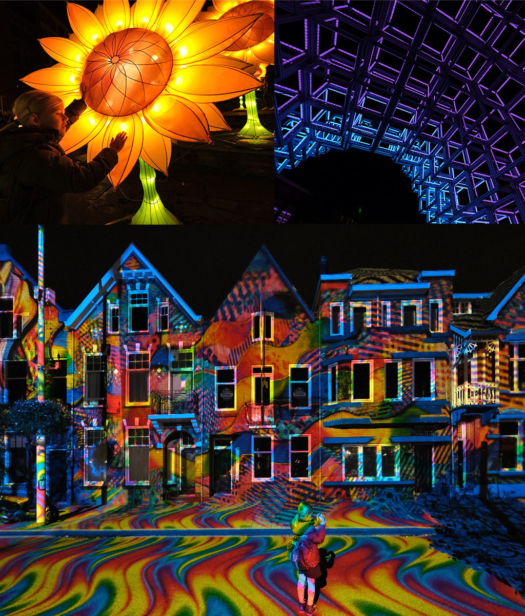 kunst van licht GLOW Eindhoven