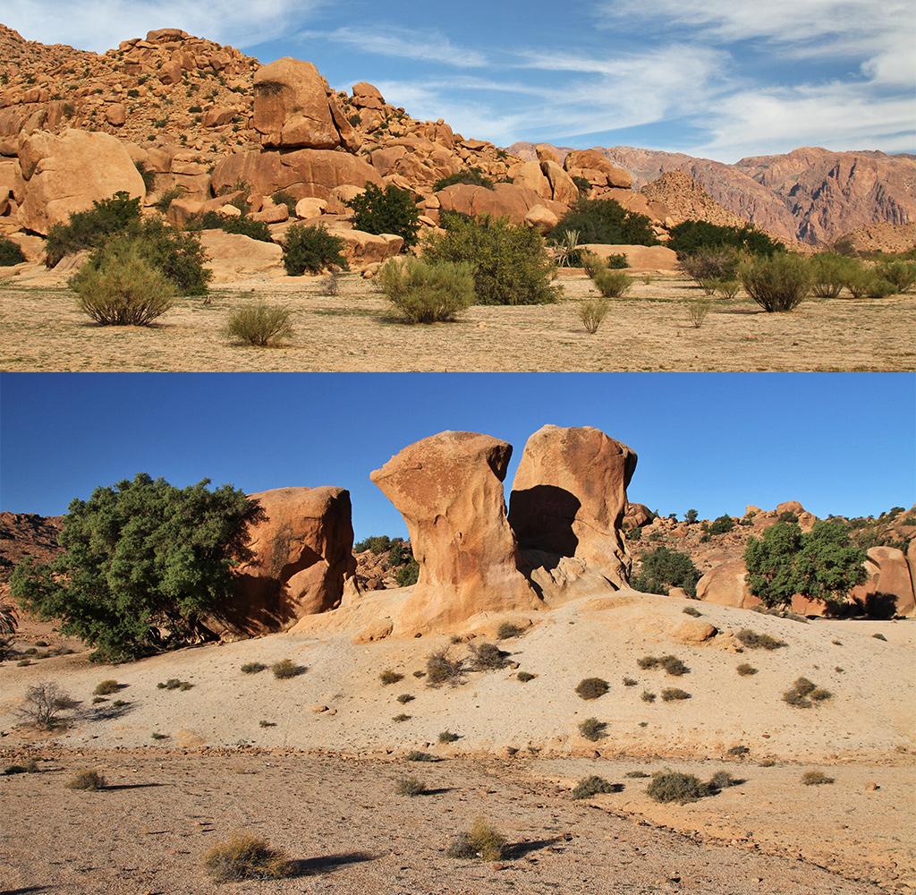 landschap rondom Tafraoute