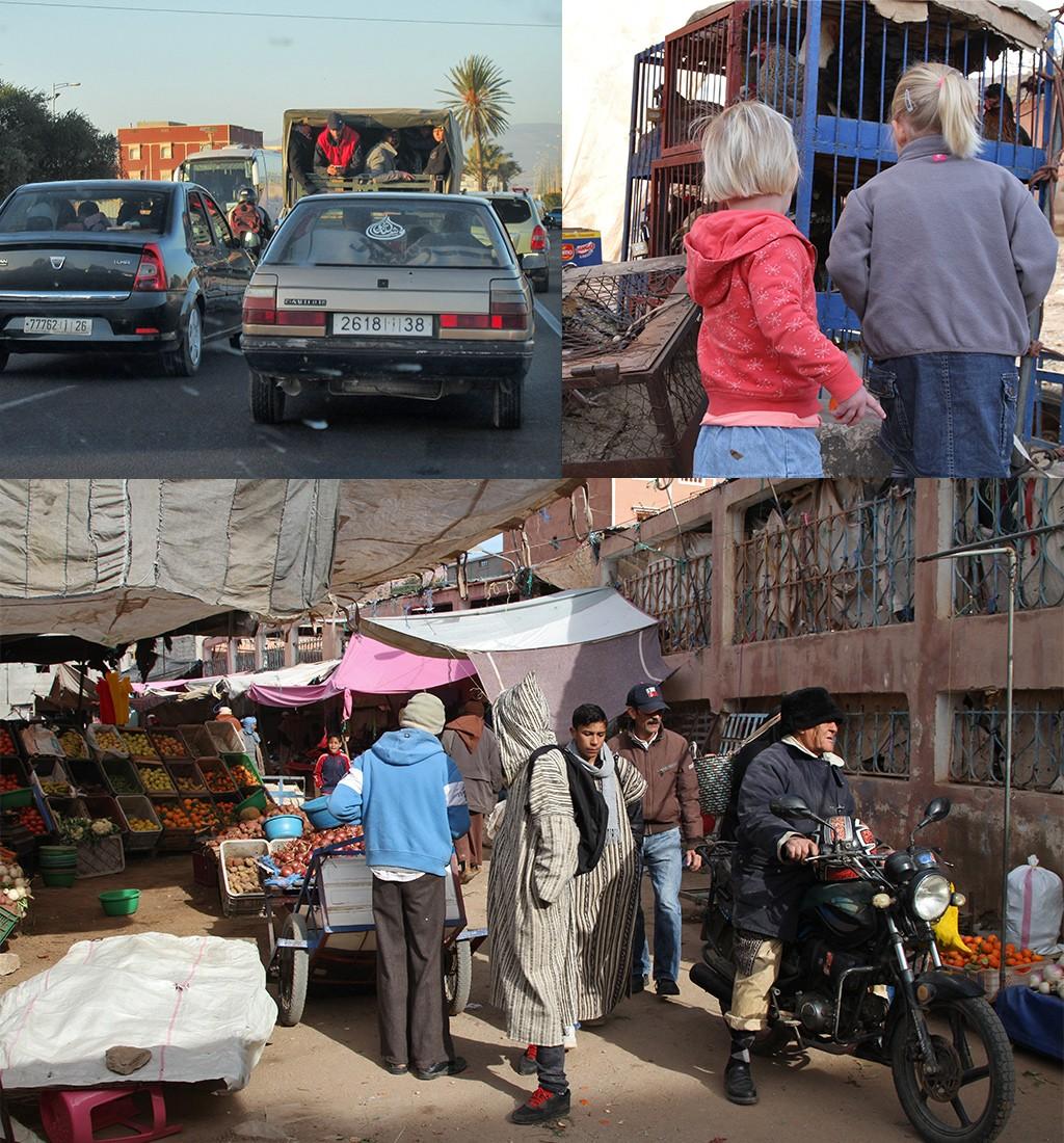 let op verkeer in Marokko met kinderen