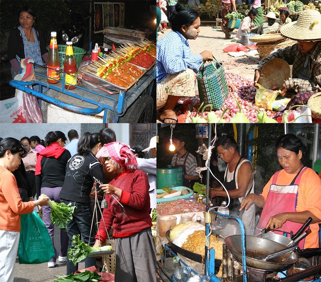 Lokaal eten op de markt en de nightmarket