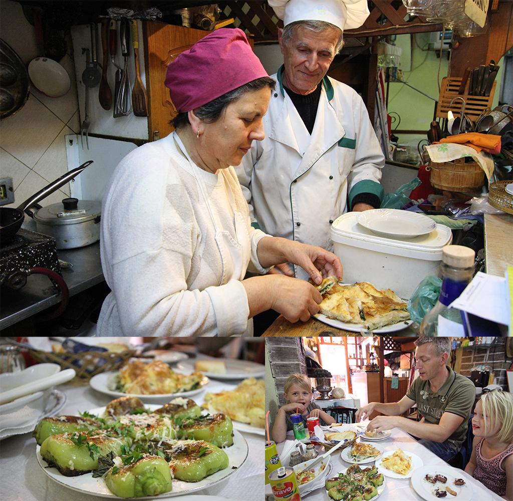 lokale keuken Gjirokastër bij Gjoca restaurant
