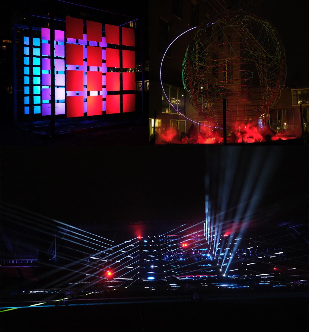 meer kunst en de lichtshow van GLOW 2019