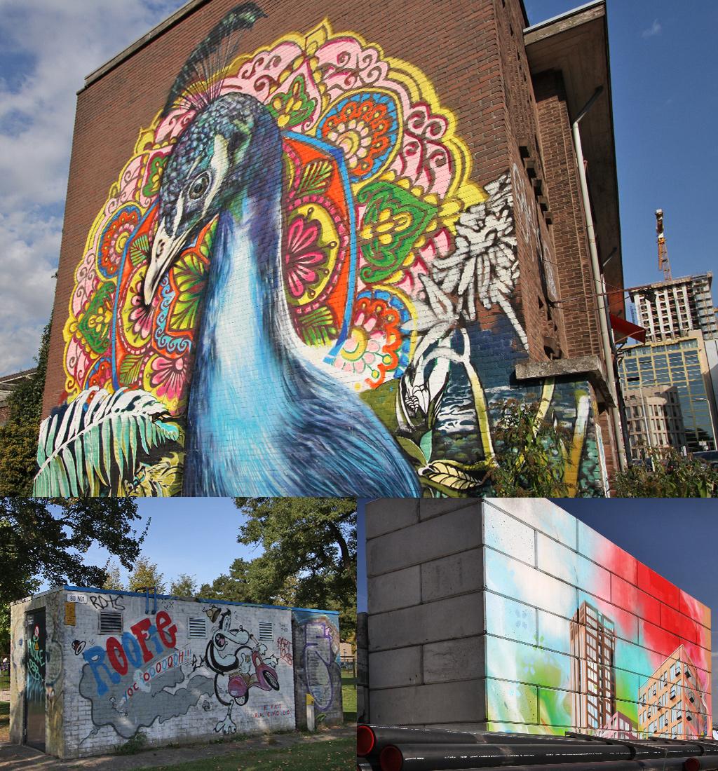 meer kunst richting centrum Eindhoven