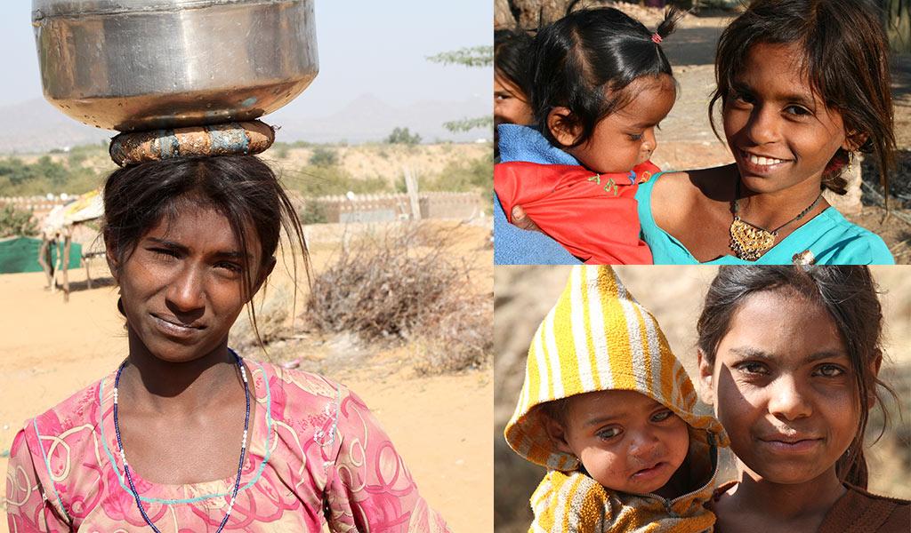 Meisjes in India