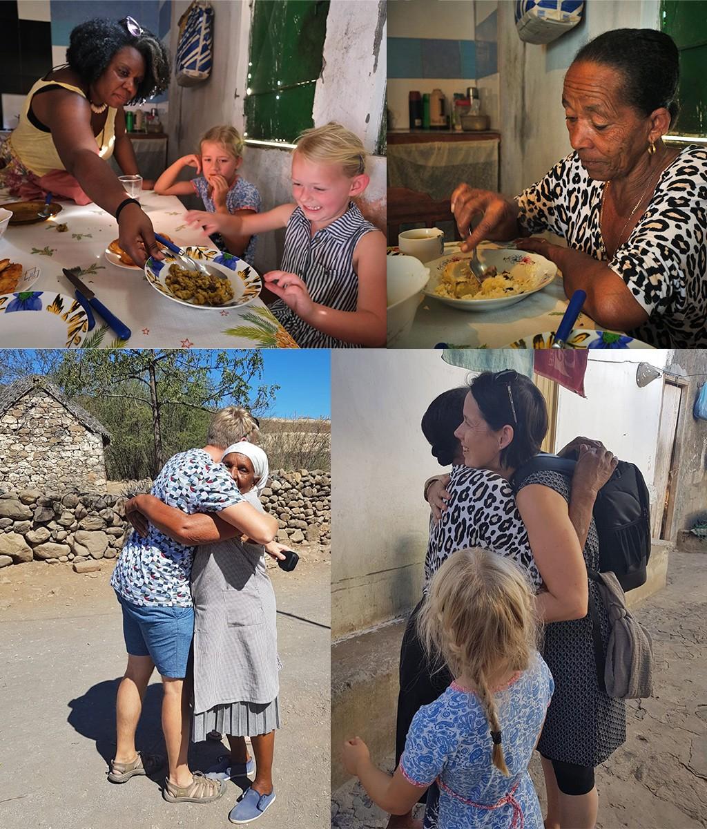 mensen verbinden door samen te eten Kaapverdië