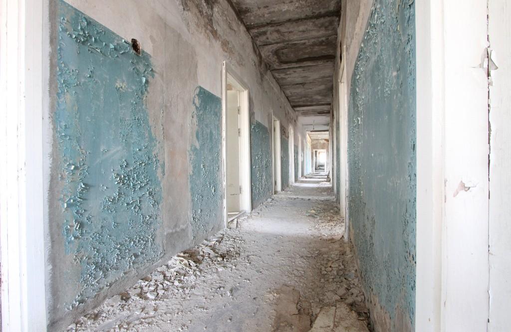 met de belichting spelen in oude gebouwen