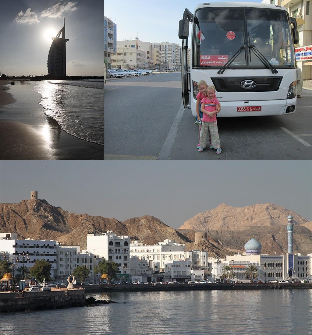 met de bus van Dubai naar Muscat