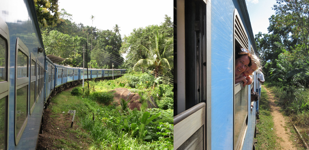 met de trein Sri Lanka door