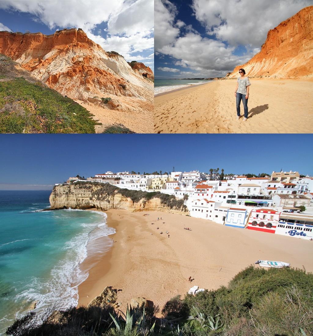 mooiste stranden Algarve - Falesia beach en Carvoeiro
