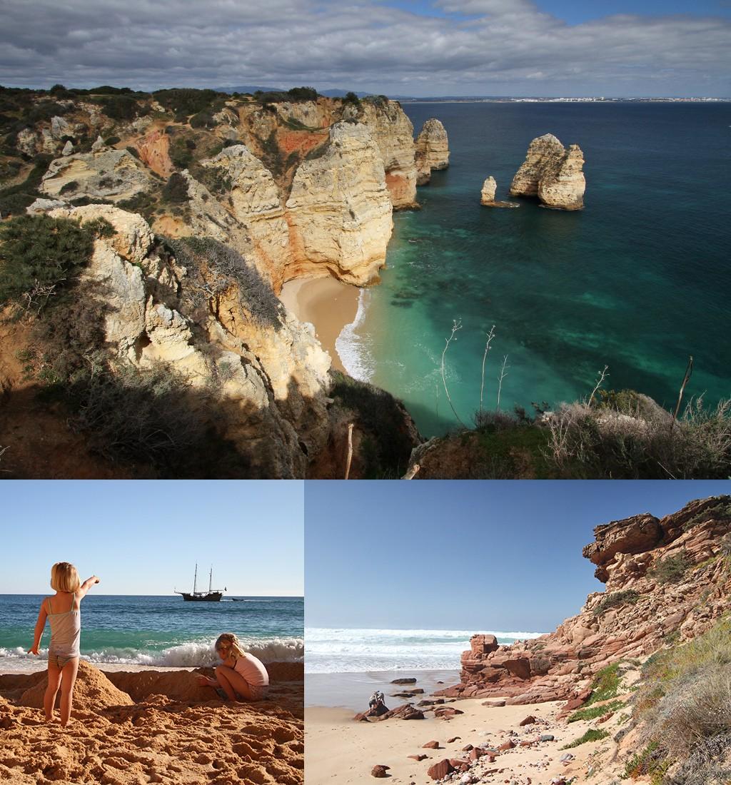 mooiste stranden Algarve - zoveel verschillende stranden