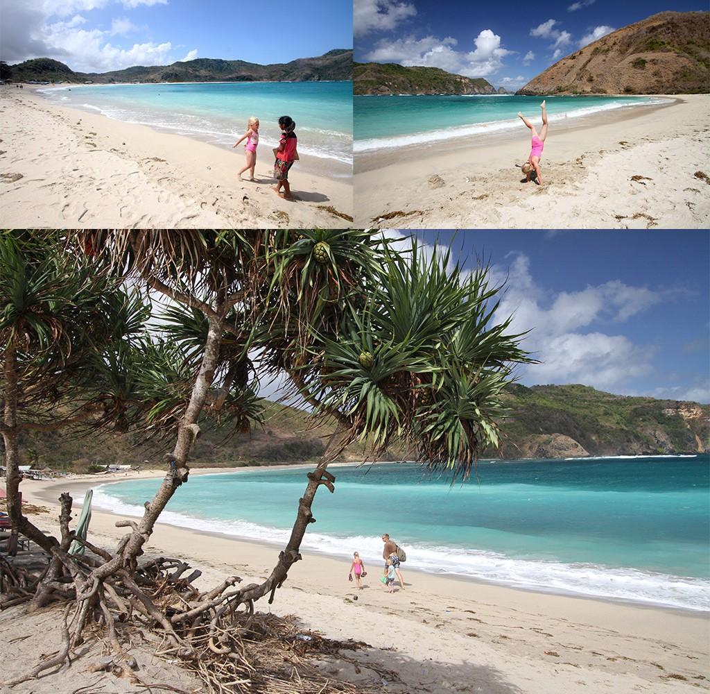 mooiste stranden Kuta Lombok - Mawun beach