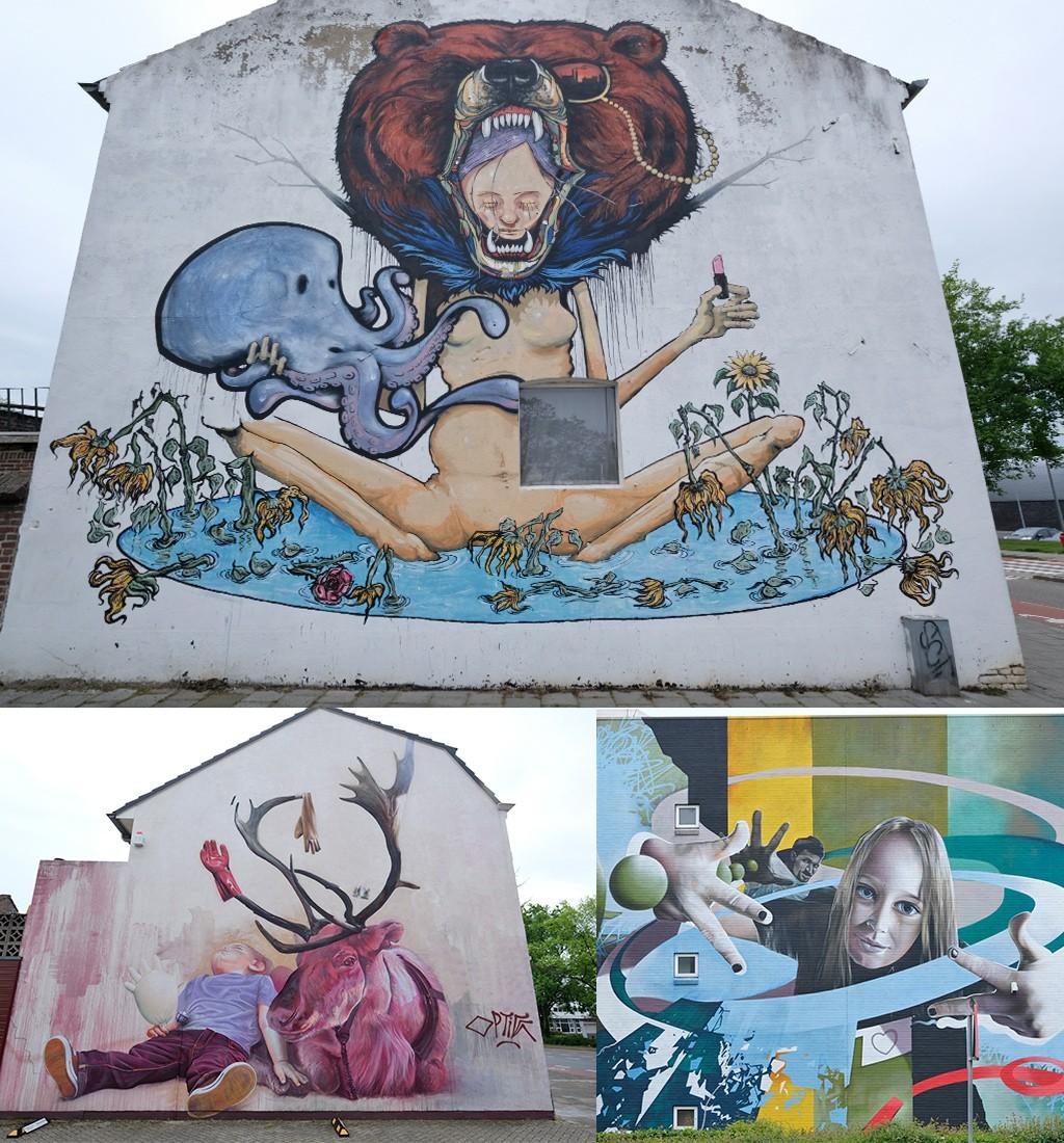 murals zuidkant van Heerlen
