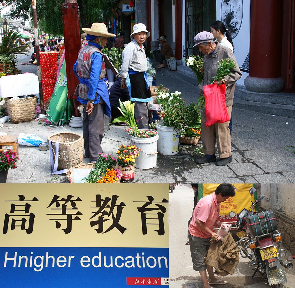 Naar de bus van Dali naar Lijiang