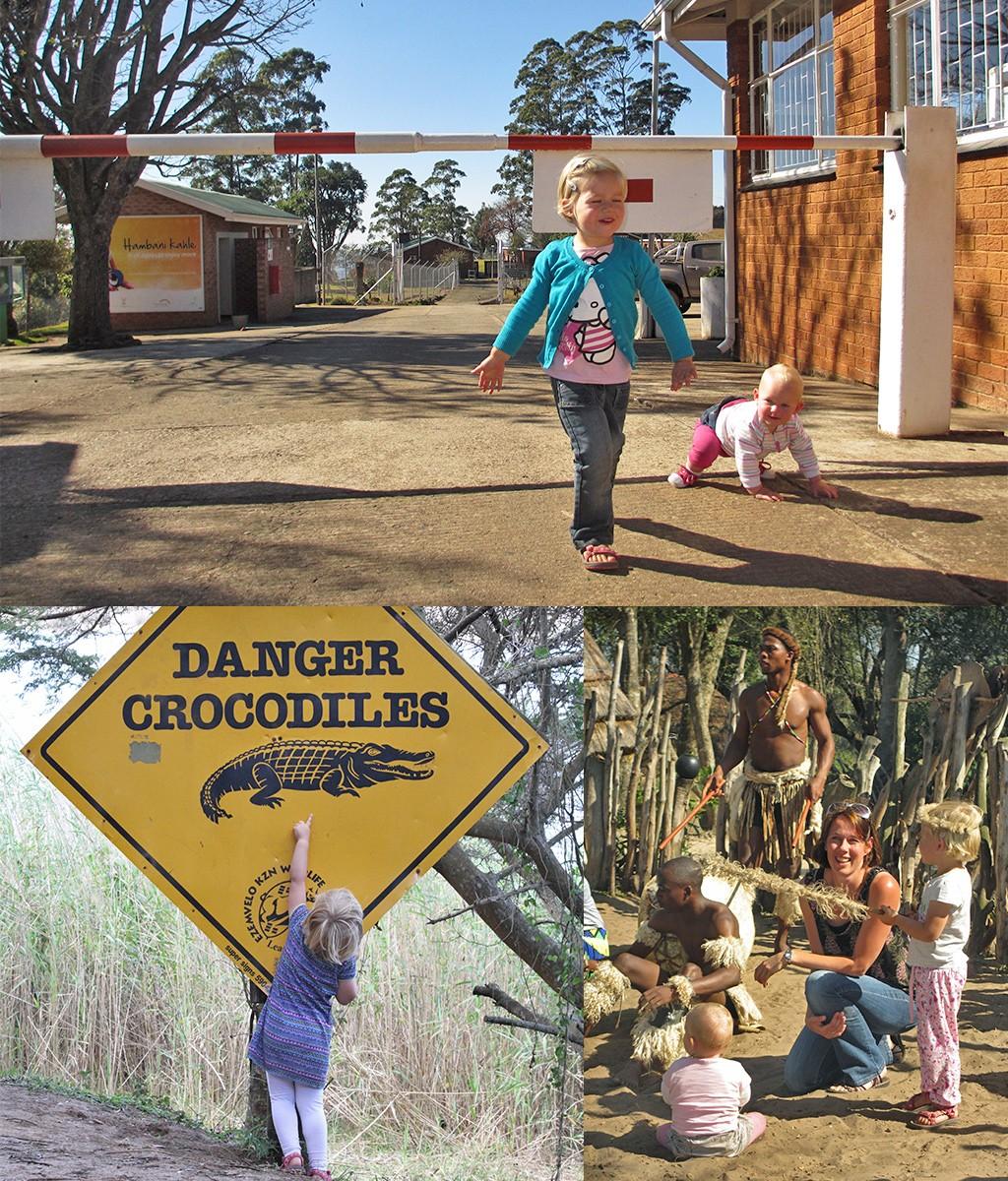 nooit meer op reis met baby en peuter naar Zuid-Afrika