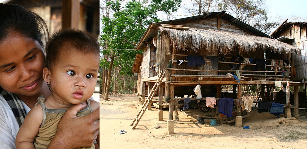 in de buurt van Sekong, Zuid Laos