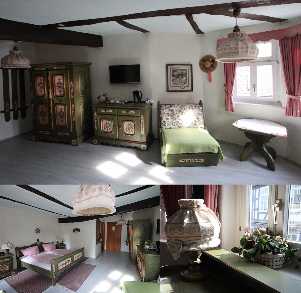 onze kamer in hotel Hostaria del Castello