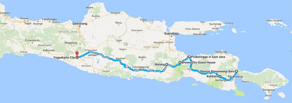 onze route Java