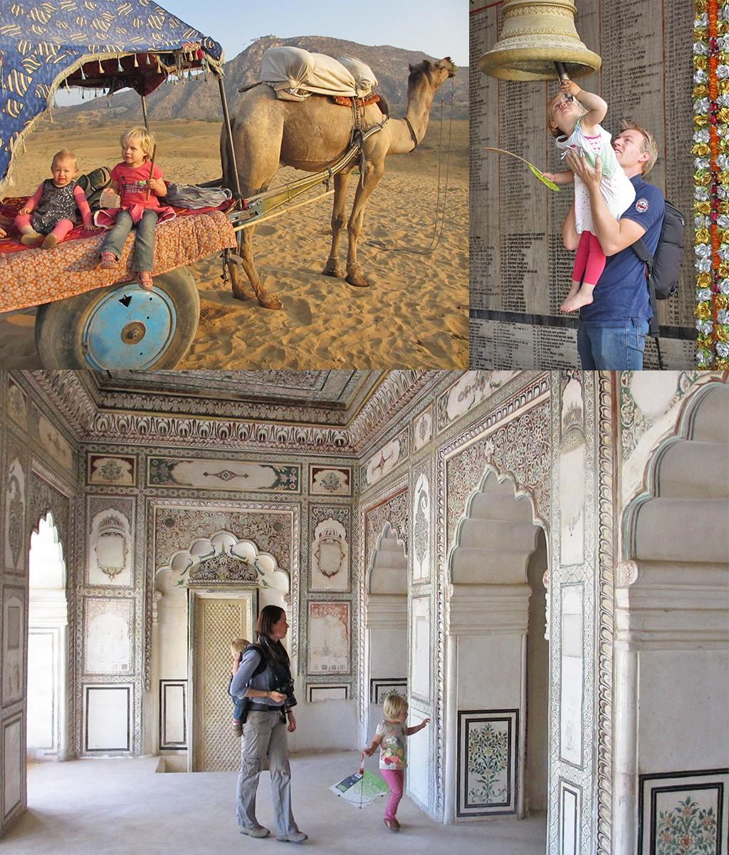 op reis met baby en peuter naar India
