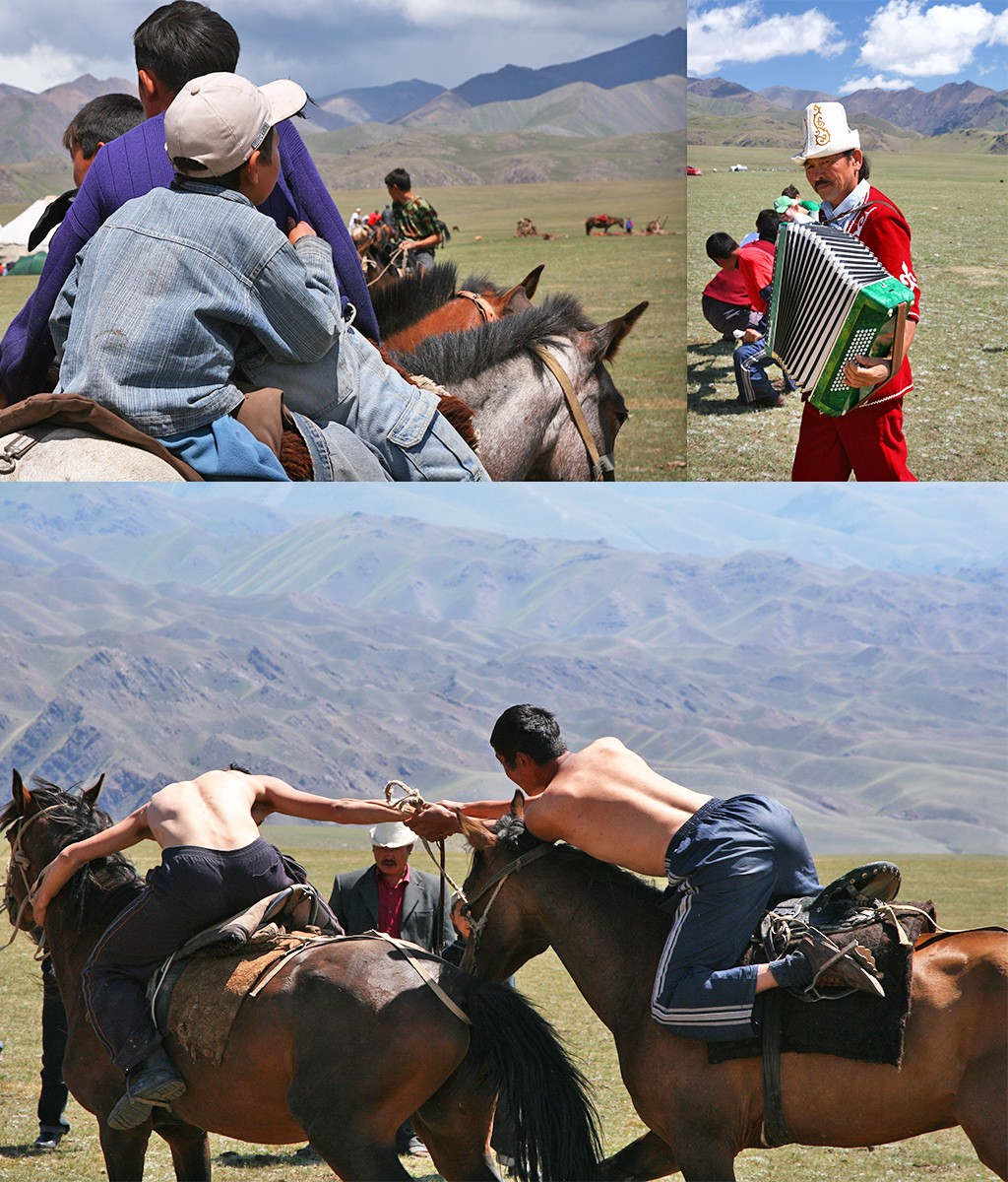 paardenspelen bij Kochkor- Saralaa Saz jailoo
