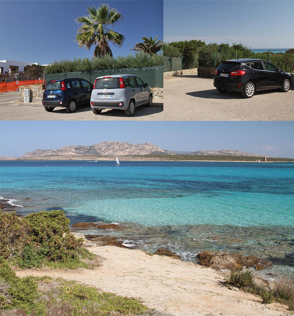 parkeren La Pelosa strand