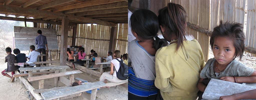 primitief schooltje Laos