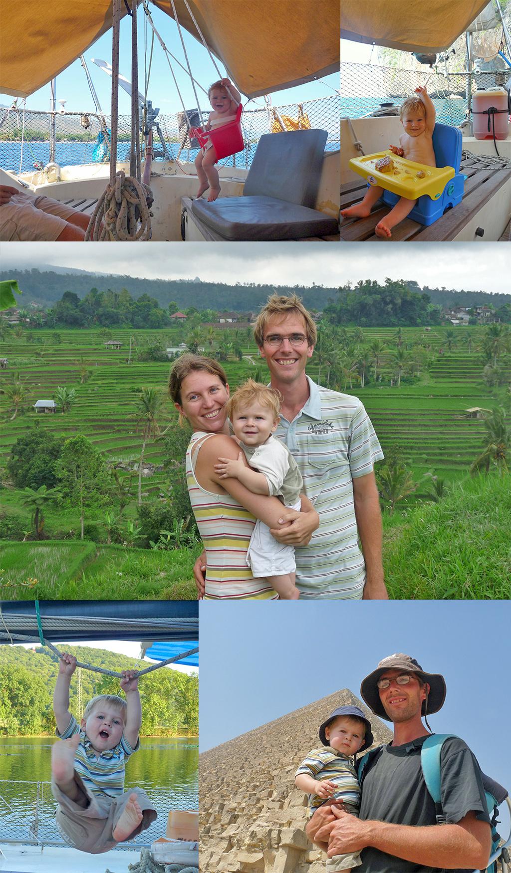 rond de wereld zeilen met baby