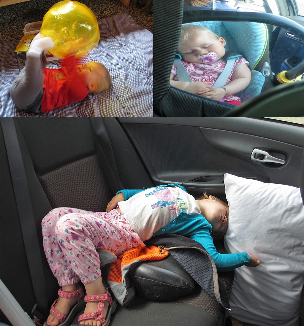 rondreis baby en peuter - auto slapen