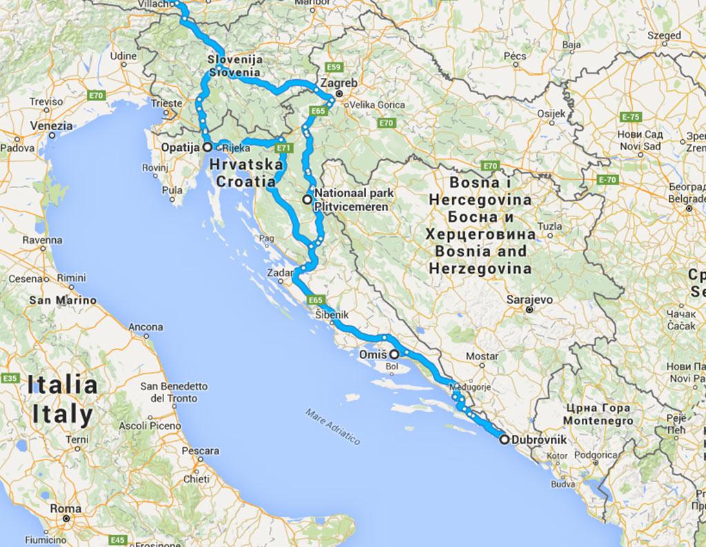 route 1 Kroatië