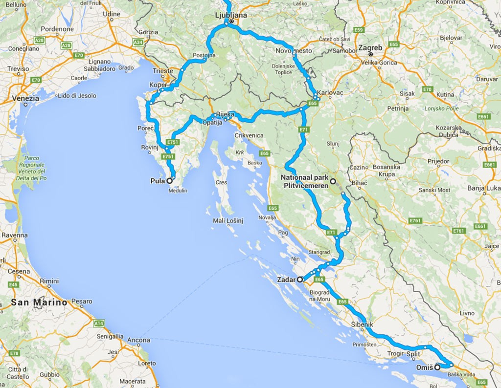 route 2 Kroatië