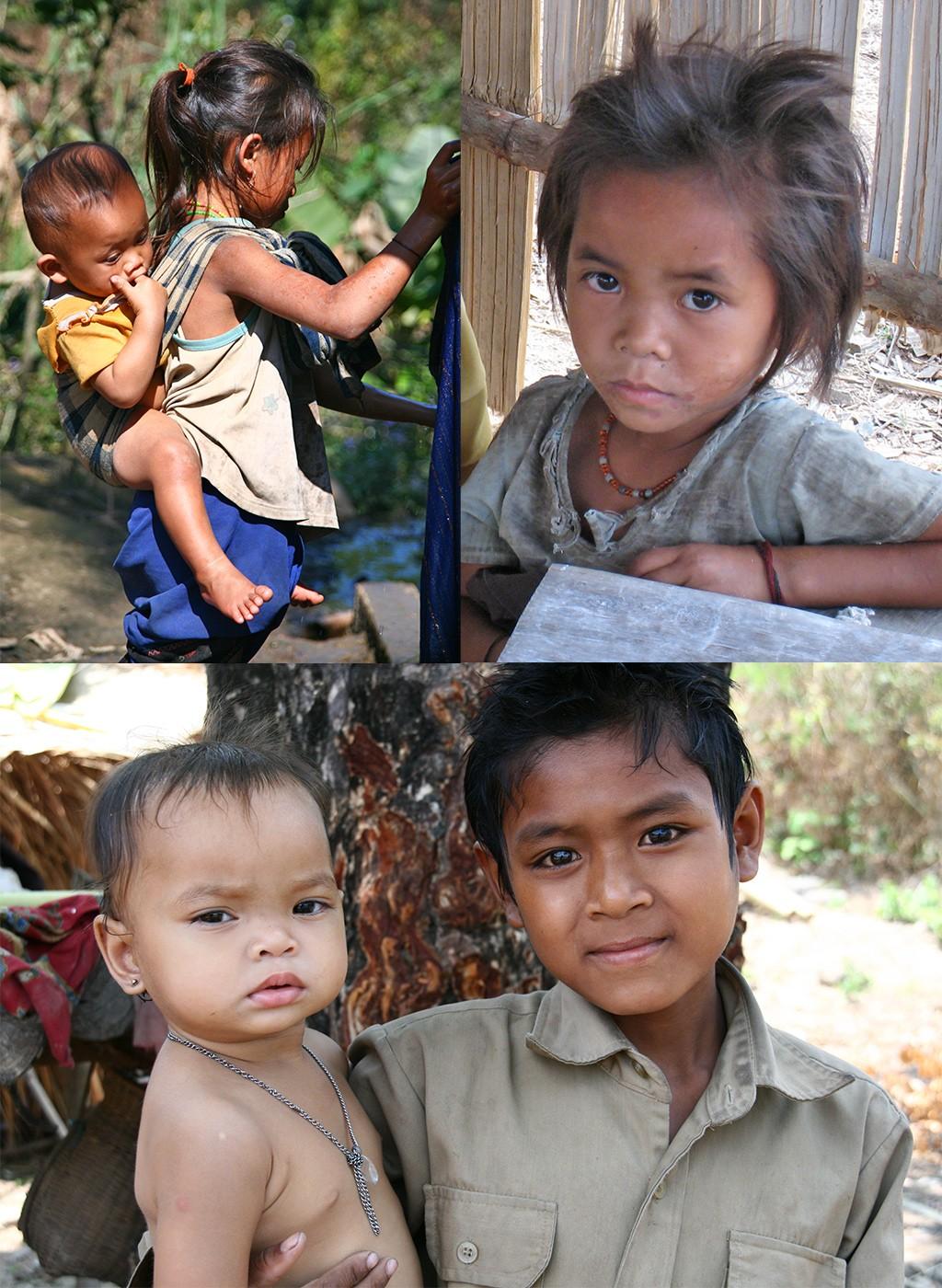 route Laos - kinderen onderweg
