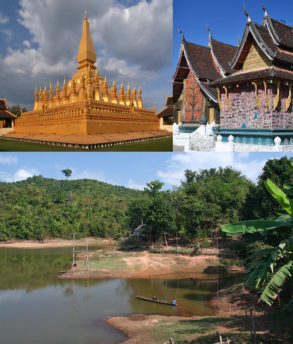 route Laos - mooie tempels en landschappen