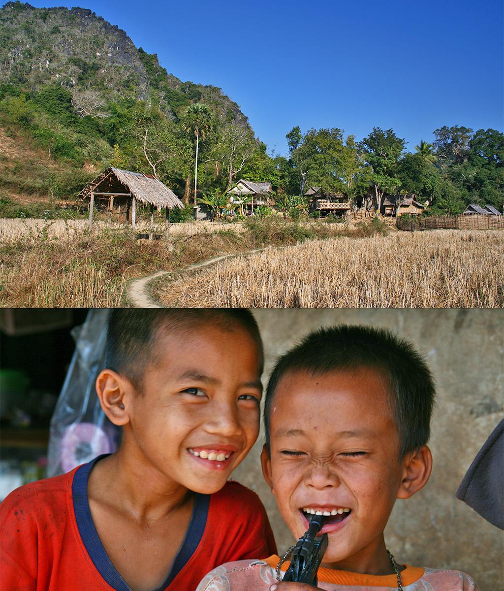schoolkinderen Laos