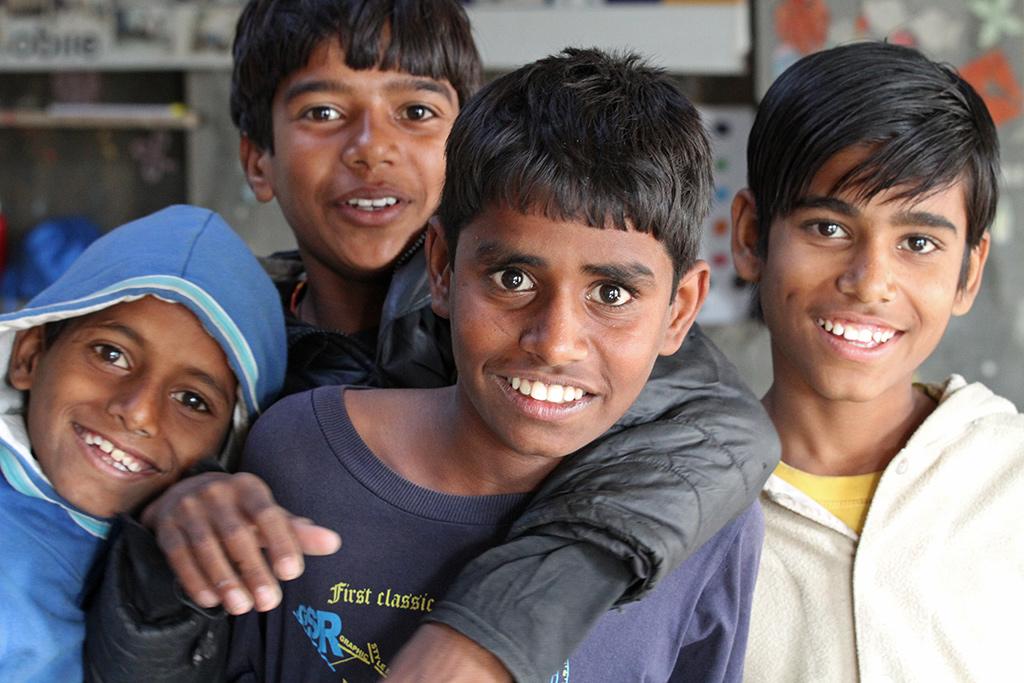 schoolkinderen in India