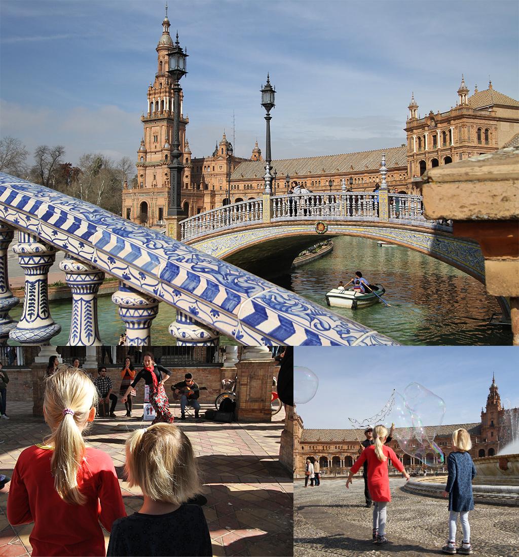 stedentrip Sevilla met kinderen - Plaza de Espana