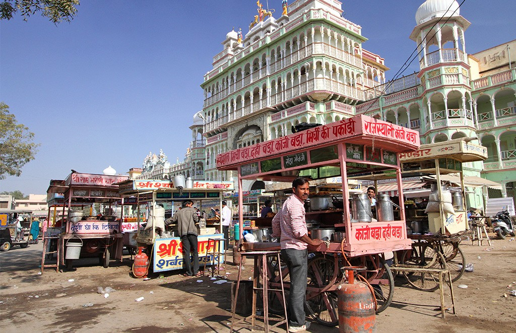 Straatfoografie India onverwachte foto