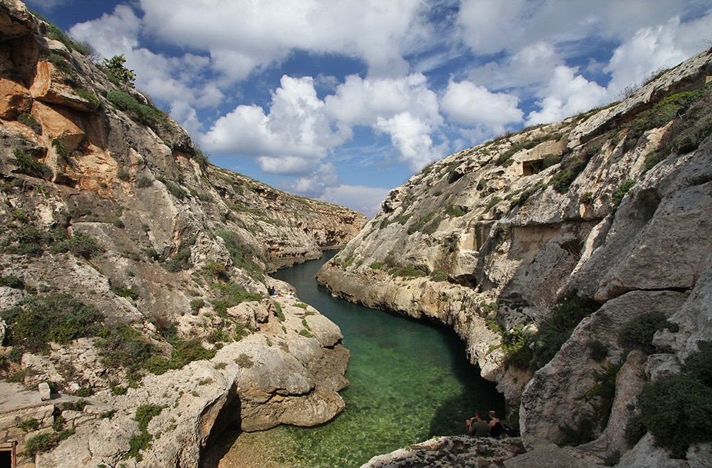 strand Malta en Gozo - Wied-il-Ghasri