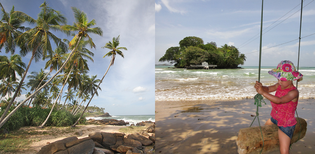 strand Sri Llanka tijdens moesson