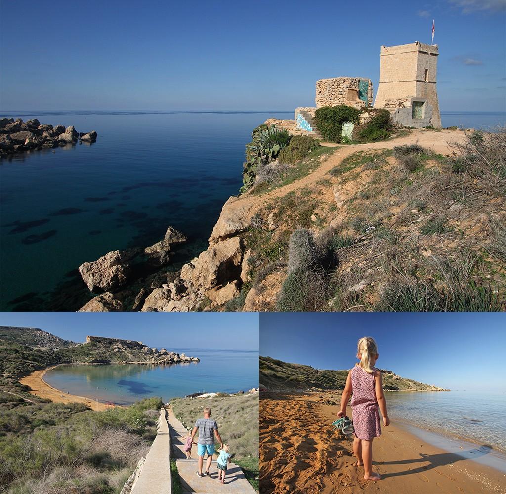 stranden Malta - Ghajn Tuffieha beach
