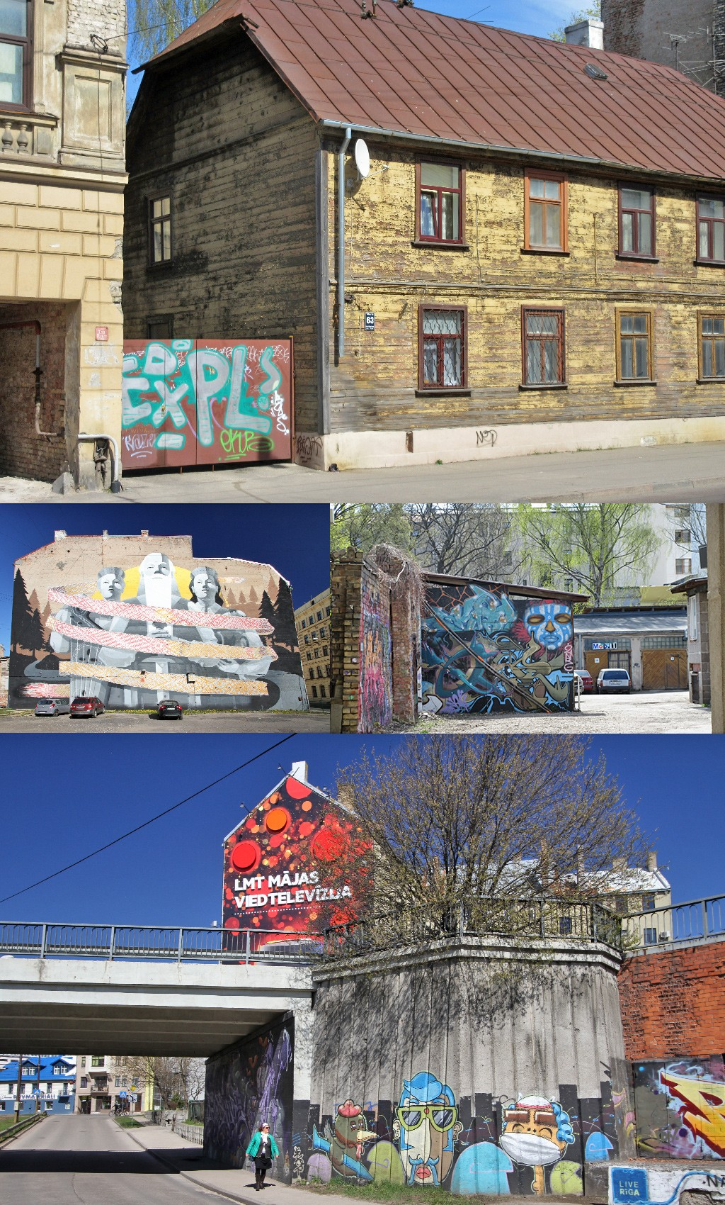 streetart Maskavas en Grizinkalns