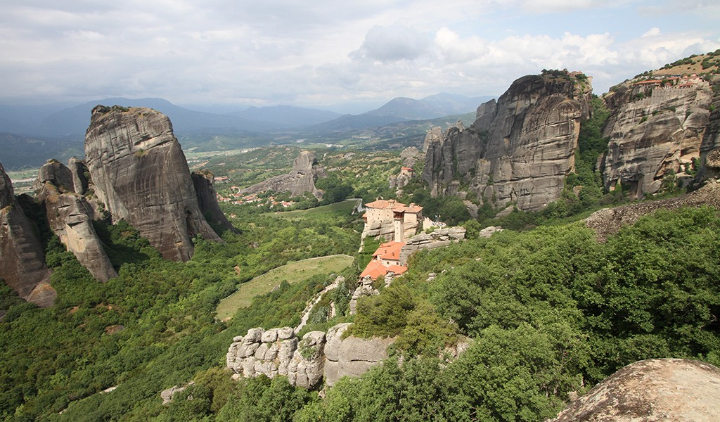 sunset point Meteora