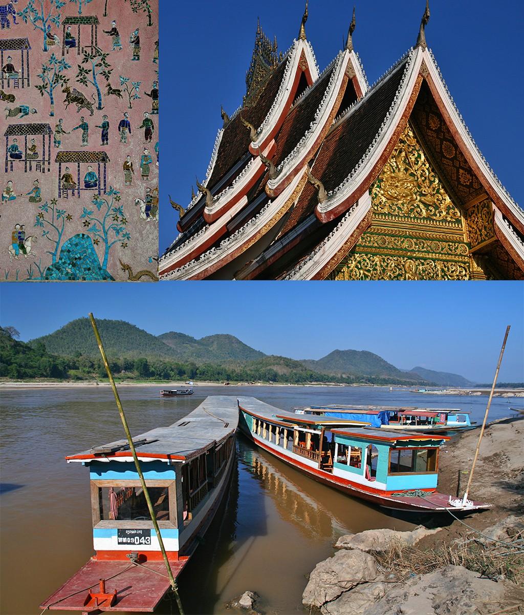 tempels en Mekong Luang Prabang