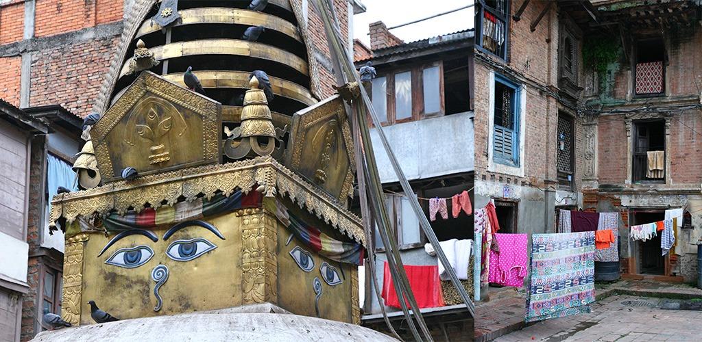 Tempels en binnenplaatsjes Kathmandu