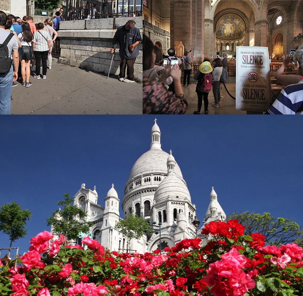 toeristen in hun eigen wereld