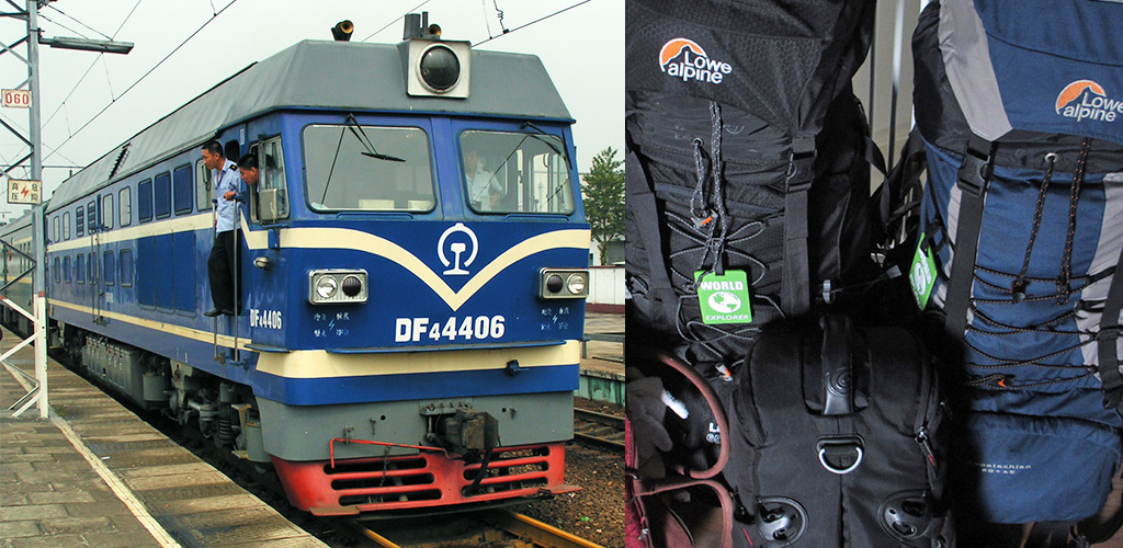 treinperikelen onderweg naar Jiayuguan